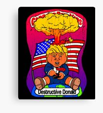 Destructive Donald Canvas Print
