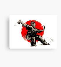 wushu martial arts Canvas Print