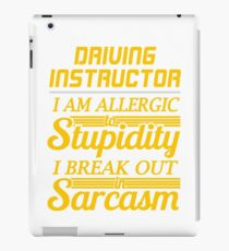 DRIVING INSTRUCTOR iPad Case/Skin