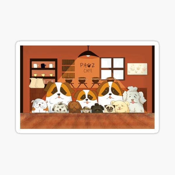 Doggy Cafe Sticker