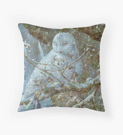 Winter Refuge Throw Pillow