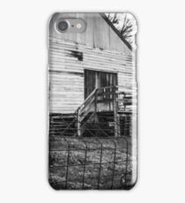 Fence post and barn. iPhone Case/Skin