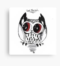 Loki the owl Canvas Print