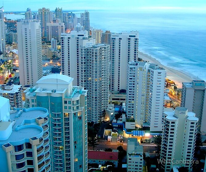 Gold Coast Australia, early morning from Floor 40 by WhitCanberra