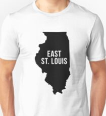 East St. Louis, Illinois Silhouette Unisex T-Shirt