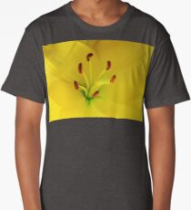Yellow Lily Macro Long T-Shirt