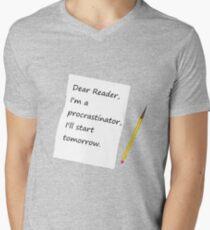 I'll Start Tomorrow Mens V-Neck T-Shirt
