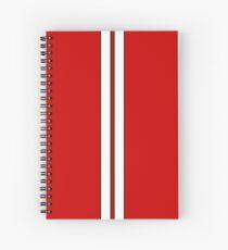 Classic racing stripe Spiral Notebook