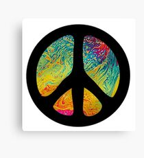 Peace Out in Blue Canvas Print