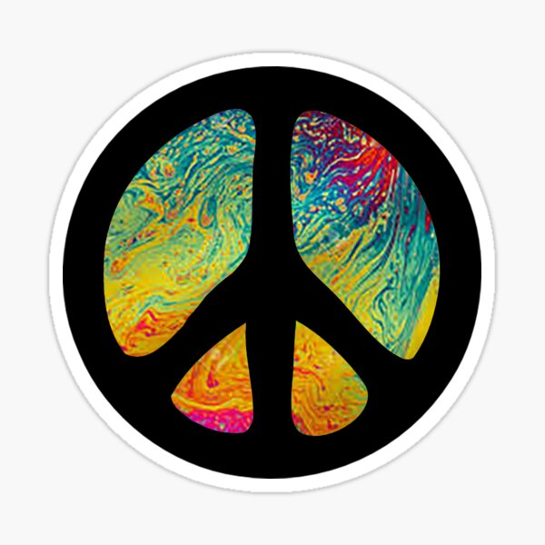 Peace Out in Blue Sticker