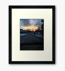Winter Street Scene Framed Print