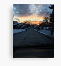 Winter Street Scene Canvas Print