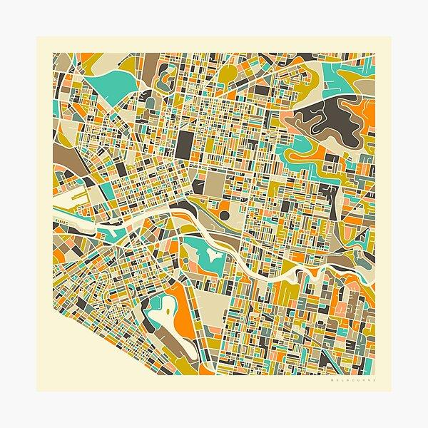 MELBOURNE MAP Photographic Print