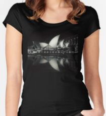 Quiet night at Sydney Opera House  Women's Fitted Scoop T-Shirt