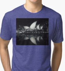Quiet night at Sydney Opera House  Tri-blend T-Shirt