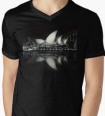Quiet night at Sydney Opera House  Men's V-Neck T-Shirt