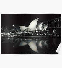 Quiet night at Sydney Opera House  Poster