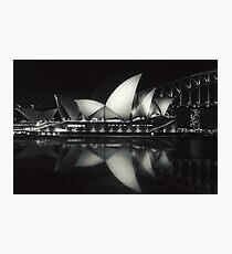 Quiet night at Sydney Opera House  Photographic Print