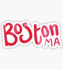 BOSTON red watercolor  Sticker