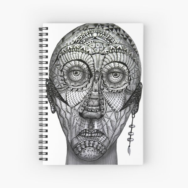 Tattoo man Spiral Notebook