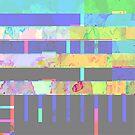 Rainbow Watercolor Distortion Pattern #2 by aidadaism
