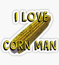 Corn Man Sticker