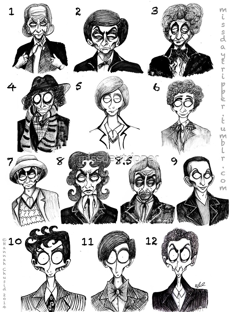 All of the Doctors by missdaytripper
