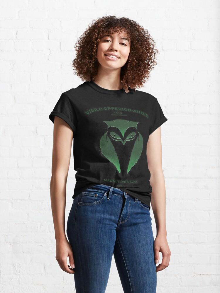 Alternate view of Vigilo Operior Audio Classic T-Shirt