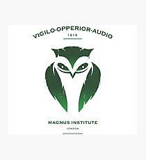 Vigilo Operior Audio Photographic Print