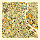 NEW DELHI MAP by JazzberryBlue