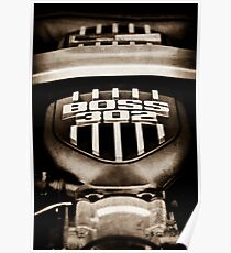 Ford Mustang Boss 302 Motor -0460s Poster