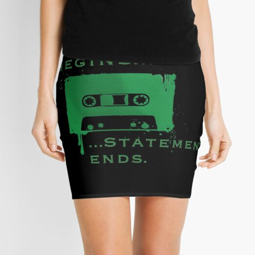 Statement Begins... Statement Ends... Mini Skirt