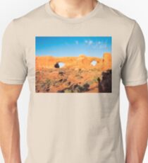 North Windows at Arches National Park in sunset light. T-Shirt