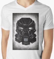 Black Metal Future Fighter on distressed background Men's V-Neck T-Shirt