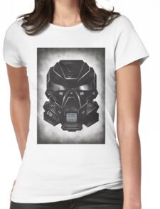 Black Metal Future Fighter on distressed background Womens Fitted T-Shirt