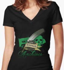 The Magnus Archives Logo Women's Fitted V-Neck T-Shirt