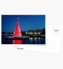 0186 Geelong Christmas tree Postcards