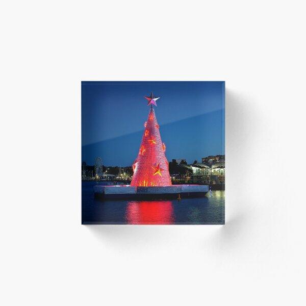 0186 Geelong Christmas tree Acrylic Block