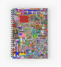 /r/place feat. WSB-KID Spiral Notebook