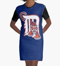 Detroit Tigers Cap Graphic T-Shirt Dress