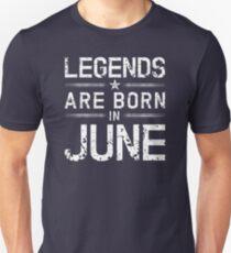 Legends Are Born In June - Vintage T-Shirt Unisex T-Shirt