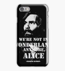 Charles Manson - Wonderland iPhone Case/Skin