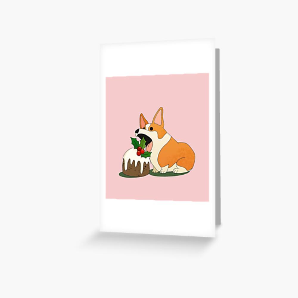 Christmas Corgi Greeting Card