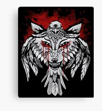 Wolf & Raven Canvas Print