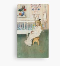 Lisbeth with a Yellow Tulip 1894 Carl Larsson Canvas Print