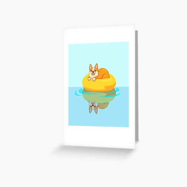 Summer Corgi Greeting Card