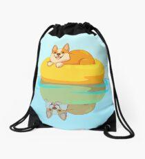 Summer Corgi Drawstring Bag