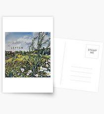 Leyton letters Postcards