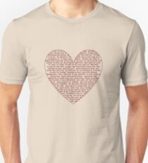 I Love You All Over My Heart Unisex T-Shirt