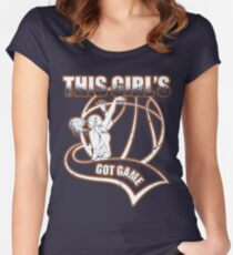 This Girl Got Game Basketball Women's Fitted Scoop T-Shirt